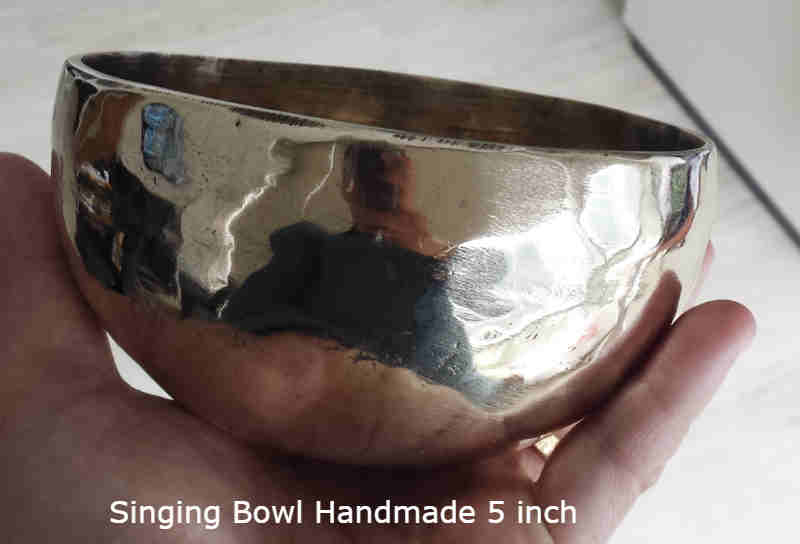 Singing Bowl Handmade 7 logam 5 inch Good Quality