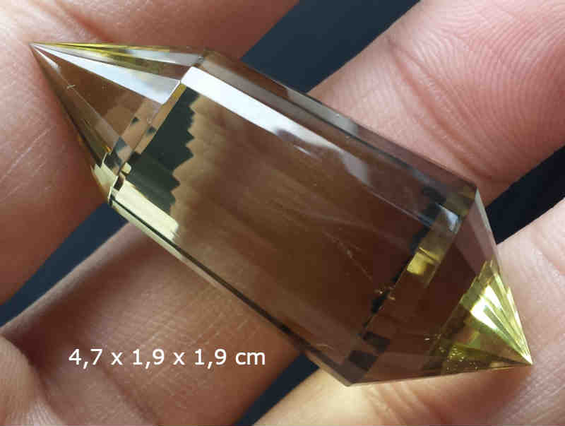 Smoky Citrine Quartz Vogel 24 Sided Kode 2
